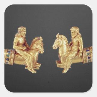 Neck ring in the form of Scythian horsemen Square Sticker