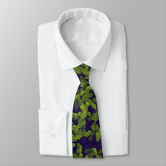 Neck Tie - E. coli (green with navy