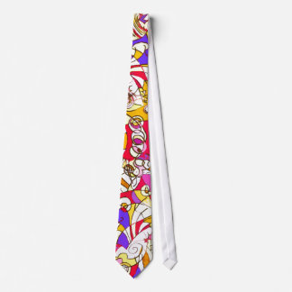 Neck Tie with Colourful Cubist Design