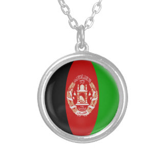 """Necklace + 18"""" chain Afghanistan flag"""