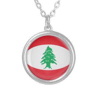 "Necklace + 18"" chain Lebanon flag"