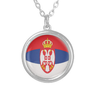 "Necklace + 18"" chain Serbia Serbian flag"