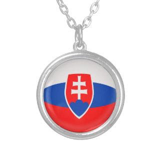 """Necklace + 18"""" chain Slovakia Slovak flag"""