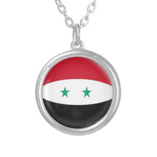 "Necklace + 18"" chain Syria Syrian flag"