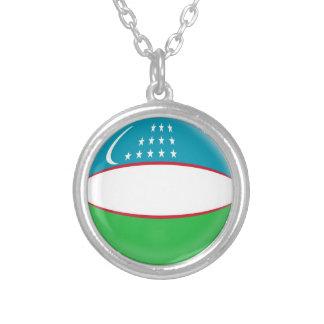"""Necklace + 18"""" chain Uzbekistan flag"""