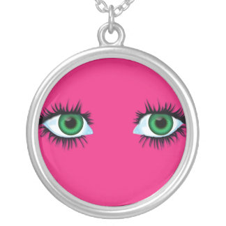 Necklace abstract background with eyes