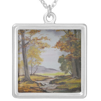 Necklace Ann Hayes Painting Forest Stream