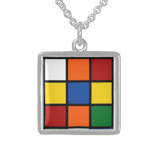 "Necklace/Charm ""Squared "" Square Pendant Necklace"