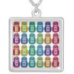 Necklace - Cute Rainbow Matryoshka Owl