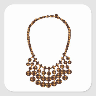 NECKLACE Design on GIFTS : by NAVIN JOSHI Square Sticker
