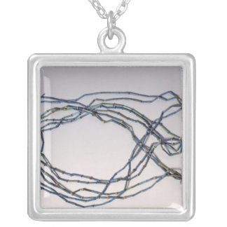 Necklace, found on a mummy silver plated necklace