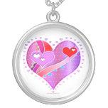 Necklace - HEART, Valentine Pop Art