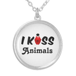 Necklace I Kiss Animals
