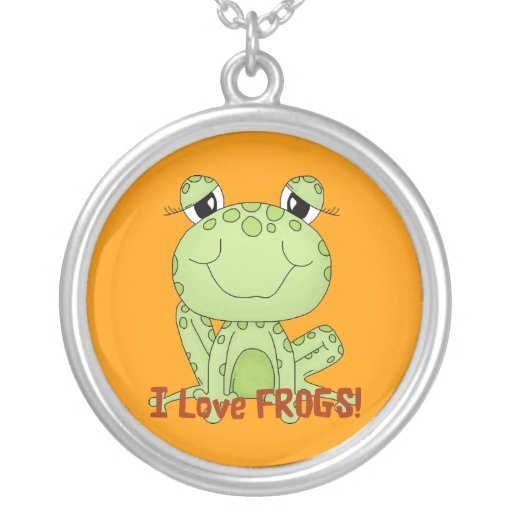 Necklace I Love Frogs Necklace