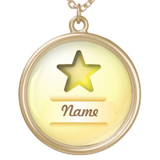 Necklace icon gold star