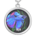 Necklace Initials Template - Betta Fish