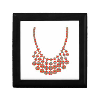 NECKLACE Jewel Graphic on GIFTS by NAVIN JOSHI Small Square Gift Box