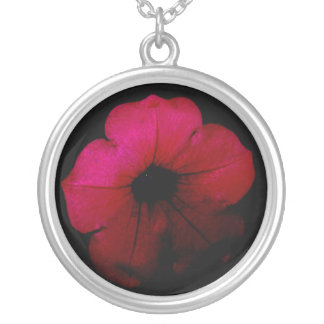 Necklace-Magenta Darkness Round Pendant Necklace
