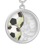 Necklace Photo Template - Soccer
