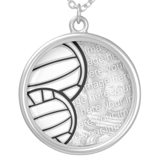 Necklace Photo Template - Volleyball