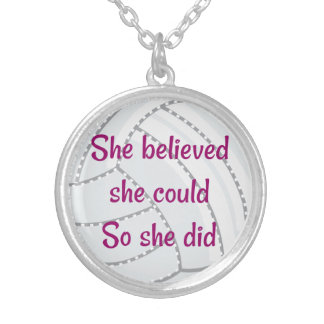 """Necklace """"She believed"""" in Volleyball"""
