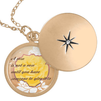 Necklace, silver or gold round locket necklace