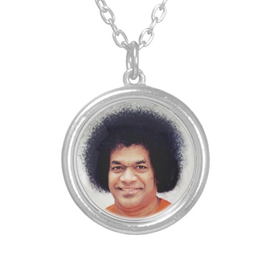 Necklace Silver Plated Sathya Sai Baba