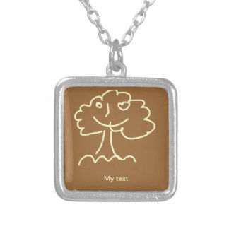 Necklace square small selbst gestalteter schmuck
