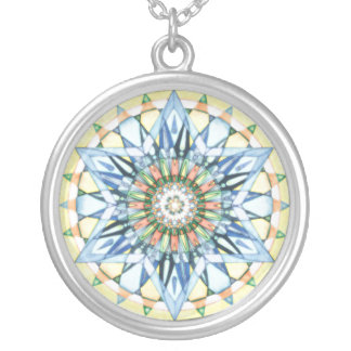 Necklace star abstract mandala