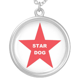 Necklace Star Dog on Red Star