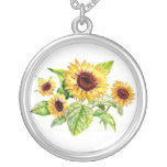 Necklace, Sunflower Bouquet Drawing