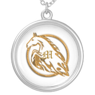 Necklace Template - Flaming Metal Horse