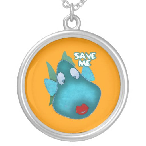 Necklace Whale Save Me Custom Jewelry