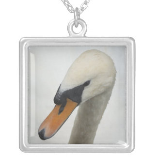 Necklace - White Macro Swan