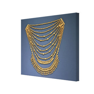 Necklace with bells canvas print