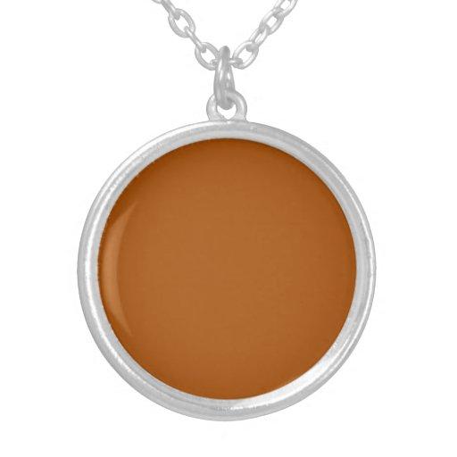 Necklace with Burnt Orange Background