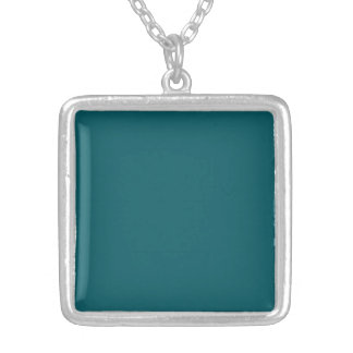 Necklace with  Dark Teal Background