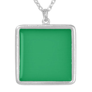 Necklace with Grass Green Background