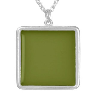 Necklace with Olive Green Background