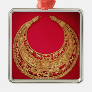 Necklace with pastoral scenes christmas ornament