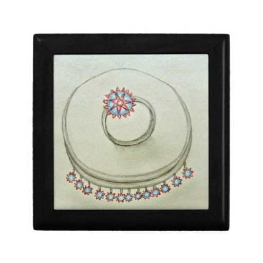 necklace with ring jewelry box