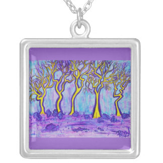 Necklace -Yellow Forest