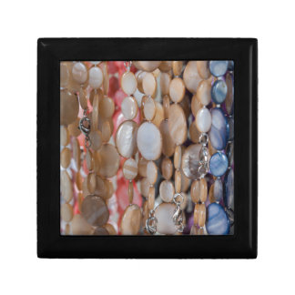 necklaces as a background gift box