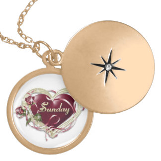 Necklance Round Locket Necklace