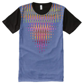 Neckline Abstract with your colors. All-Over Print T-Shirt