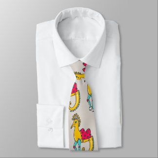 Necktie adorned with a comic personage