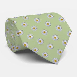 Necktie - New Daisy on Sage