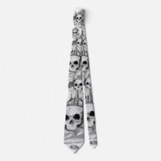 Necktie of skull/Necktie Skull and gold