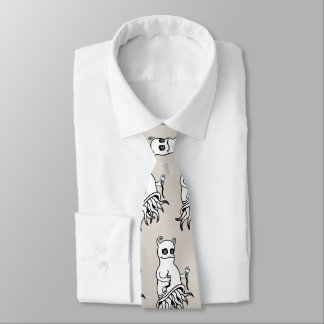 Necktie printed with a comic personage