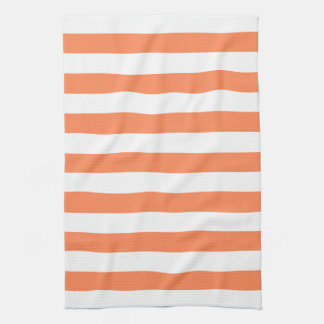 Nectarine Orange Stripes Pattern Tea Towel